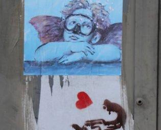 Street art, Blurb, Florence, Italy