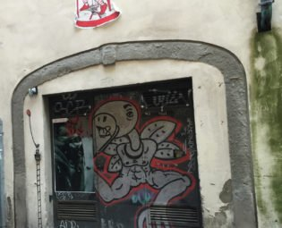 Street art, Oltrarno Florence, Italy