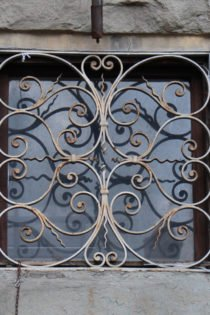 Window ironwork, Florence, Italy