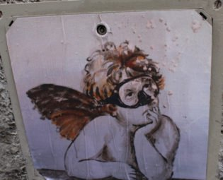 Street art, Exit Enter, Florence, Italy