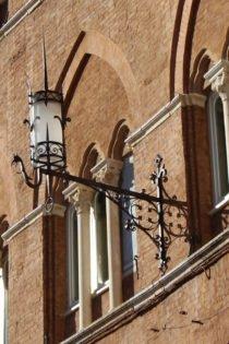 Ironwork lamp, Florence, Italy