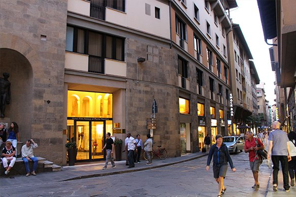 Street view of Hotel Pitti Palace—Florence, Italy
