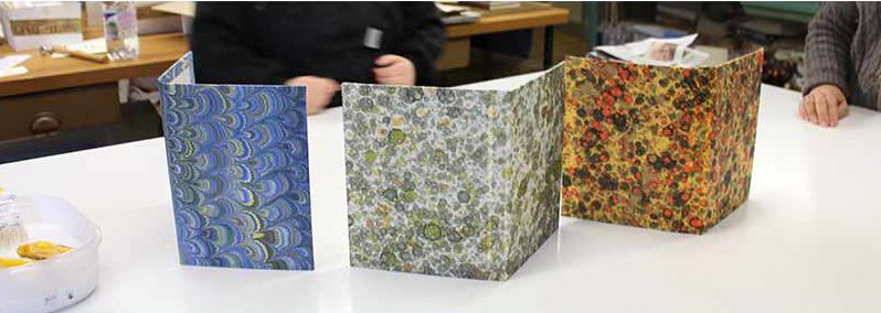 Marbleized paper journals at Il Papiro, Florence, Italy