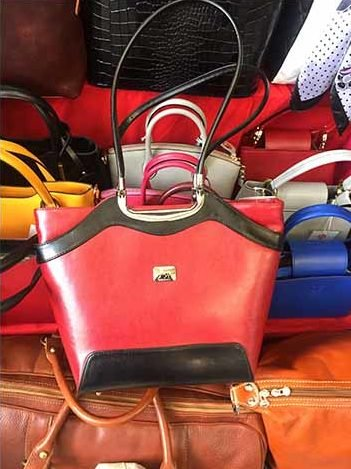 Purses at the San Lorenzo leather market, Florence, Italy