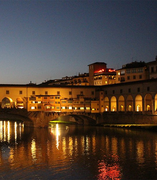 Ponte Vecchio at night—Florence, Italy